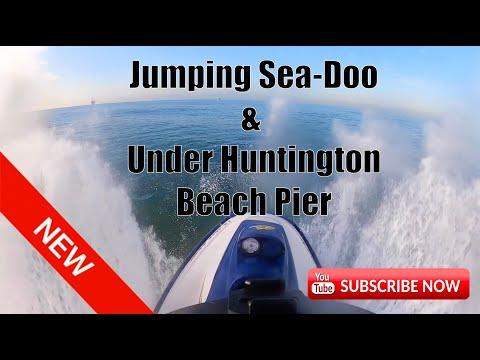 Jumping SeaDoo & Under Huntington Beach Pier- Owen Fust demo (Vegan Race training)