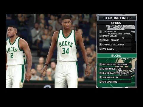 NBA 2K17: (Big Trade/Free Agent signing) San Antonio Spurs vs Milwaukee Bucks
