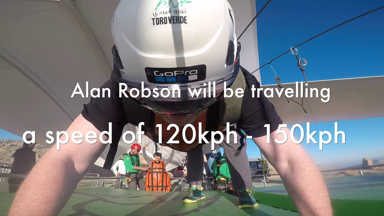 Alan Robson\'s flight on the longest zip wire in the world! - YouTube