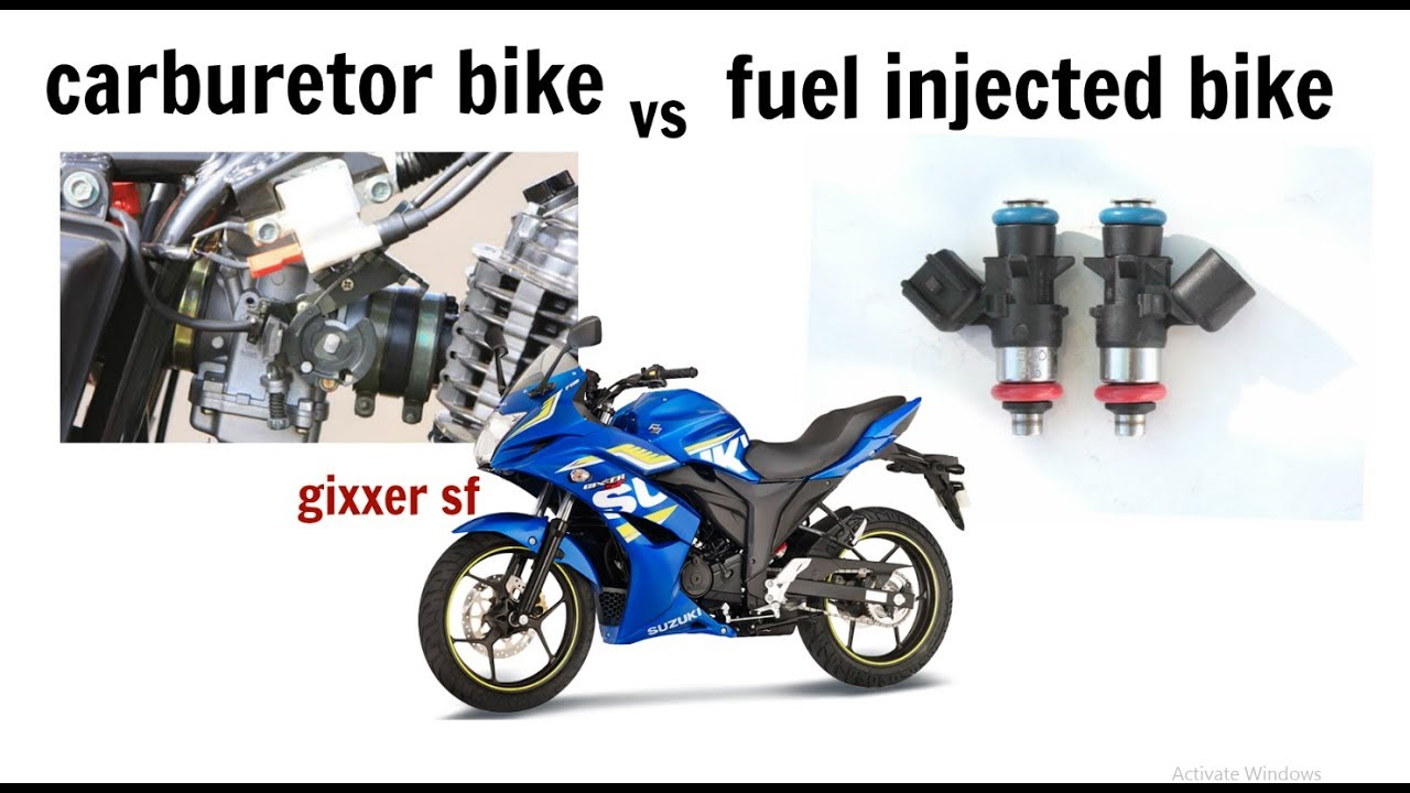Fuel injected vs carbureted motorcycle