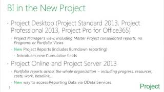 Business Intelligence in Microsoft Project Server 2013