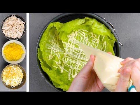 Этот вкусный и оригинальный салат станет хитом любого стола