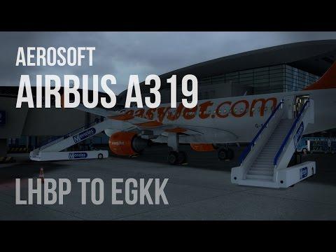 PREPAR3D v2.4: A319 EZY8426 - LHBP - EGKK - REX Soft Clouds
