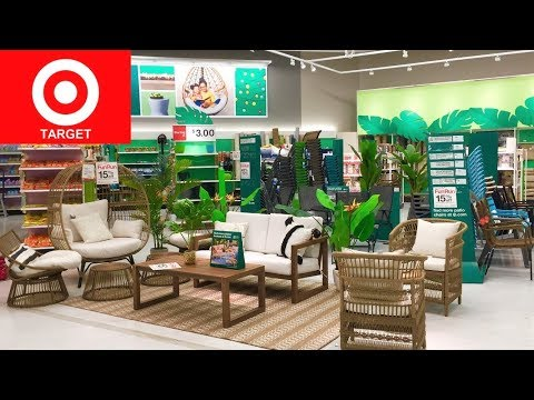 TARGET PATIO FURNITURE CHAIRS SOFAS COUCHES HOME DECOR SHOP WITH ME SHOPPING STORE WALK THROUGH 4K