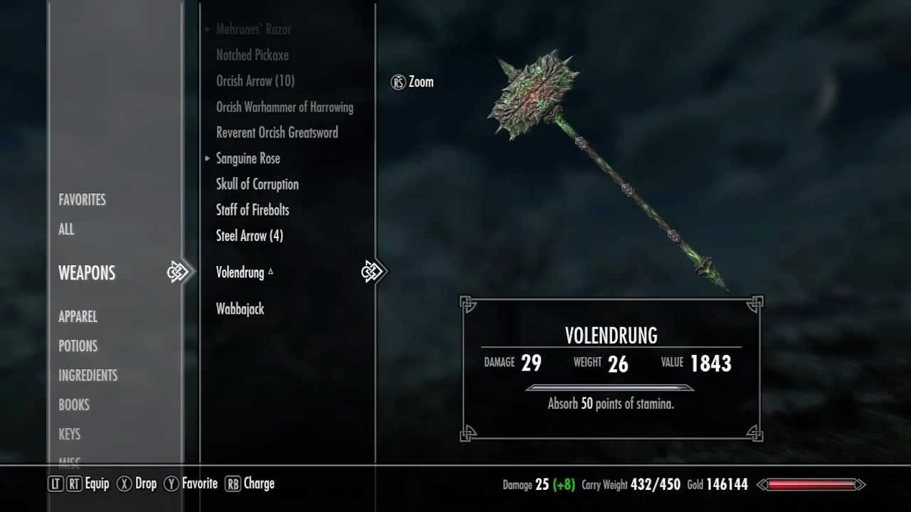 Skyrim How To Get Volendrung Best Warhammer Daedric