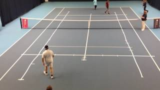 Dramatic conclusion in blind tennis semi-final of the British National Championships 2016