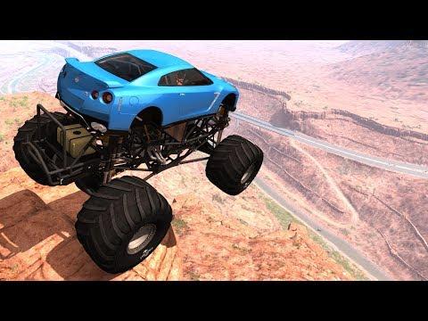 Cliffs Of Death #12 (No Music) - BeamNG Drive Crash Testing