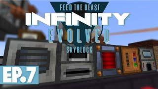 FTB INFINITY EVOLVED SKYBLOCK - FASTER STEEL & INGOT PROCESSING! #7 [Modded FTB Skyblock]