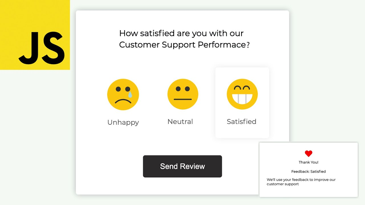Survey Ui Design | Javascript