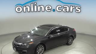 G10634ZT Used 2014 Acura TL 3.5 FWD 4D Sedan Gray Test Drive, Review, For Sale