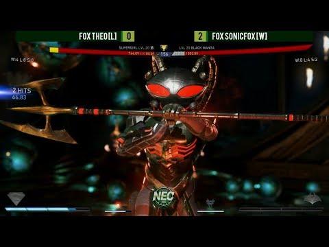 NEC XVIII/NEC 18 - Injustice 2 Grand Finals: Theo (L) vs. SonicFox (W) (1080P/60FPS)