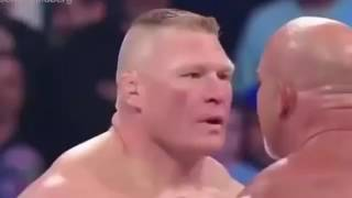 WWE funny dubbing in Hindi  GOLDBERG VS BROCK LESNAR   non veg full gali DUB  by