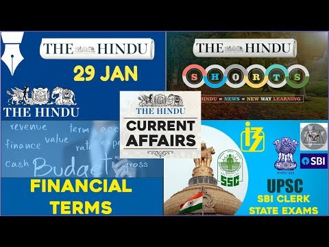 CURRENT AFFAIRS | THE HINDU | 28th-29th January 2018 | SBI CLERK, UPSC,IBPS, SSC