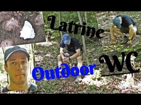 Wie geht man im Wald Schei..en?? Die Outdoor Toilette, wie man eine Latrine baut! (4K)