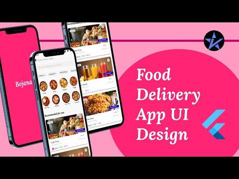 Food Delivery App UI Design - Flutter App | Concept | Flutter Tutorials
