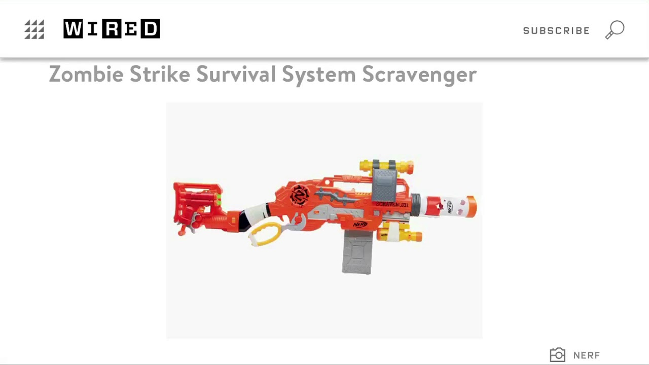 Nerf Zombie strike survival system scravenger review - YouTube
