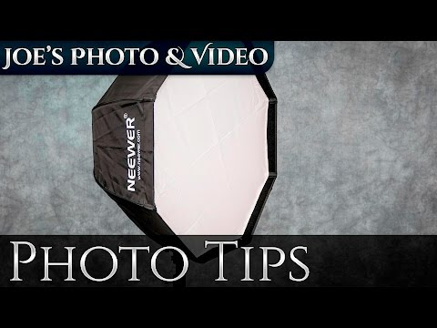 Neewer Speedlite Umbrella Softbox - How To Setup & Flash Bracket Options
