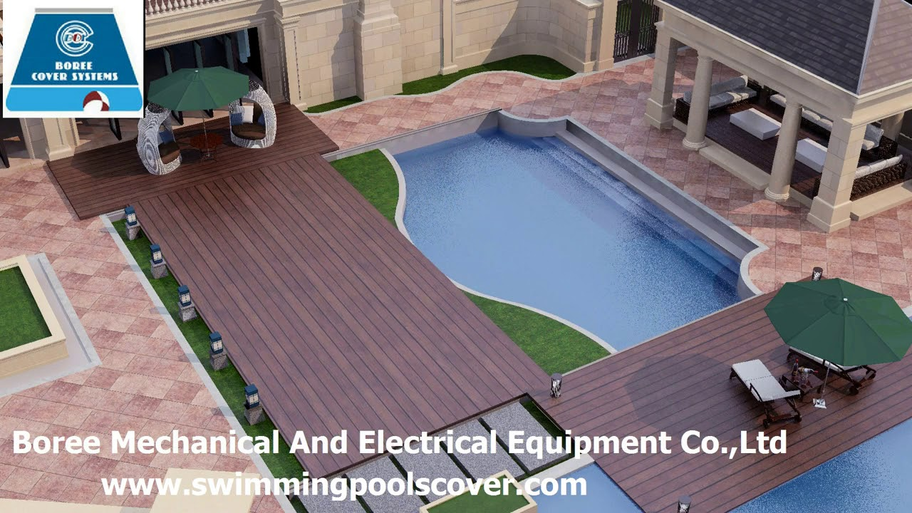 Automatic Sliding Swimming Pool Cover Above Ground - YouTube