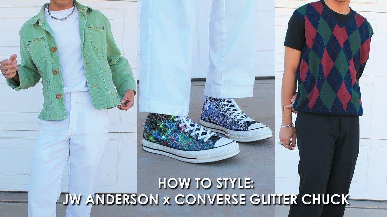 STYLING CONVERSE X JW ANDERSON GLITTER