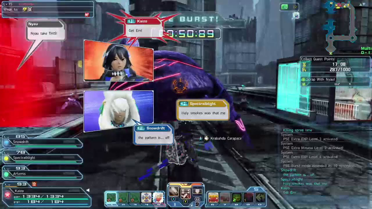 PSO2 - Hunter - Getting my points up