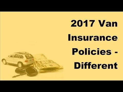 2017 Van Insurance Policies  | Different Types of Van Insurance