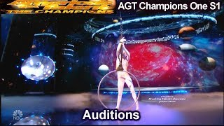 Sofie Dossi 17 yo Contortionist EXCITING Audition | America's Got Talent The Champions One AGT