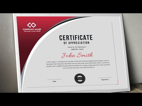 Creating a Professional Certificate Design in CMYK Color for Print - Coreldraw Tutorials