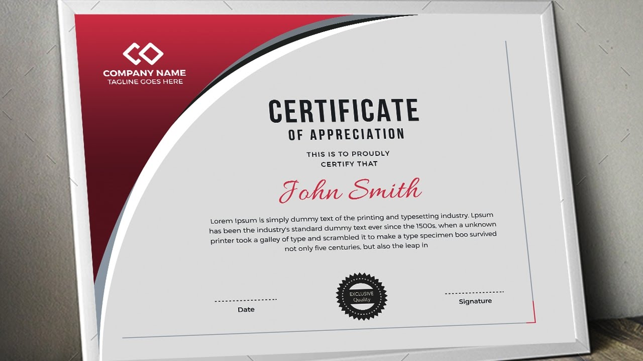 Creating a Professional Certificate Design in CMYK Color for Print ...