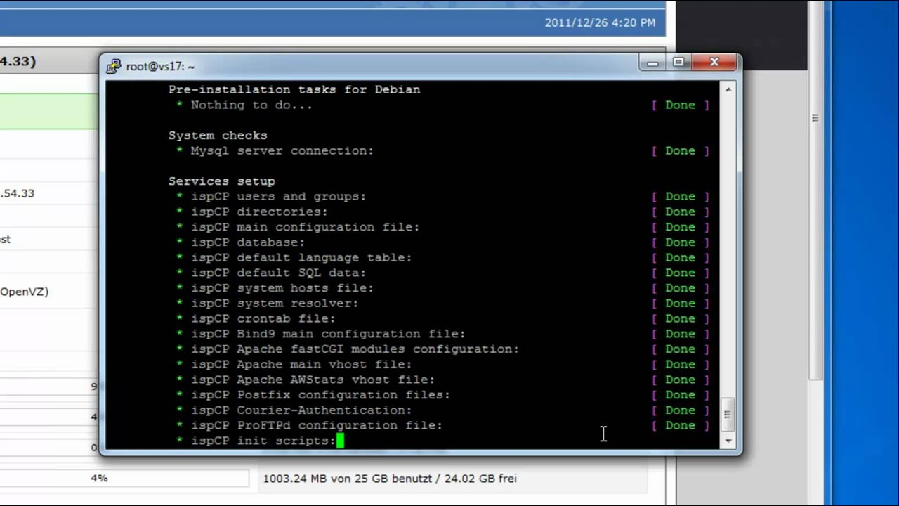 Ispcp omega install language