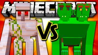 MUTANT IRON GOLEM VS END OGRE - Minecraft Batalha de Mobs - Witches and More Mod