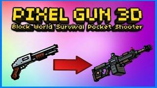 Pixel Gun 3D - Using all Primary Weapons Challenge