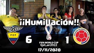Reacciones Ecuador 6 vs 1 Colombia | Eliminatorias Qatar 2022