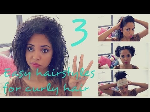 3 Quick And Easy Hairstyles For Curly Frizzy Hair Racquel