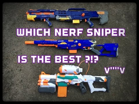 Nerf Modulus Tri-Strike Vs. N-Strike Longstrike Vs. N-Strike Longshot