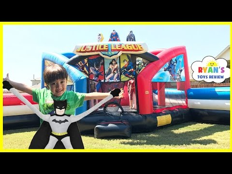Bounce House Fun for Kids playground playtime! Giant Inflatable slides! Children Play Center
