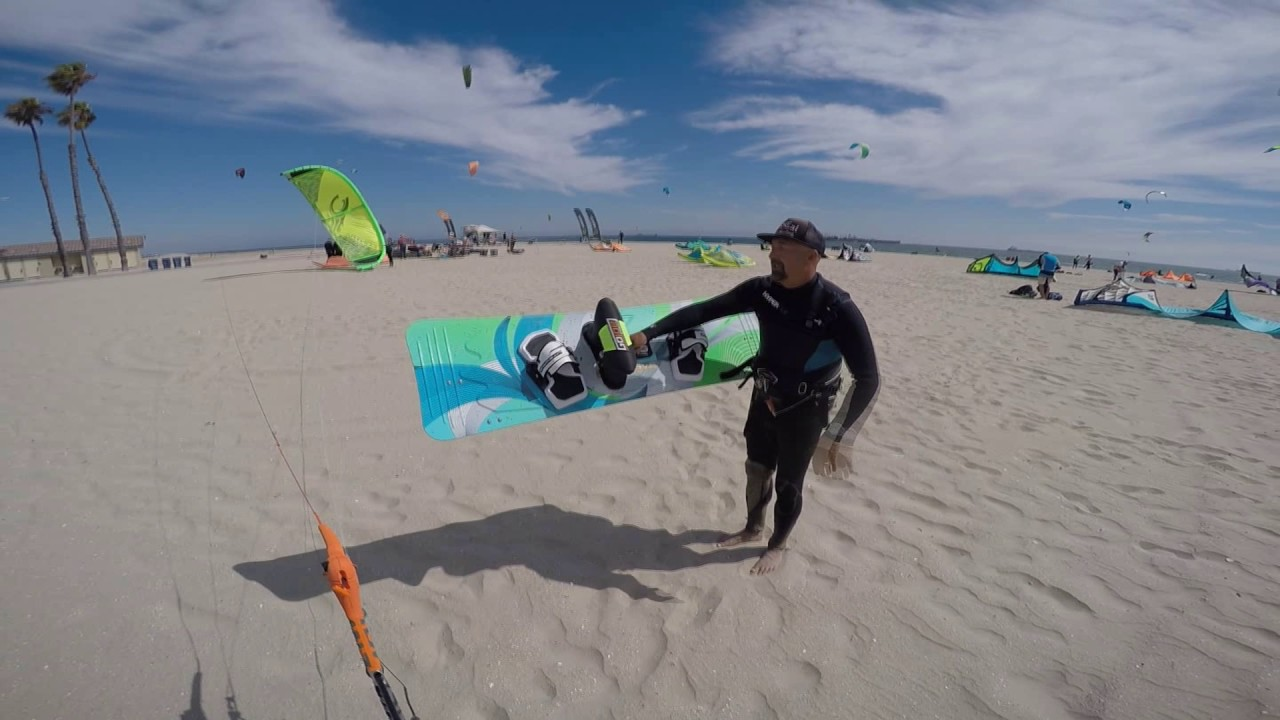 Learning To Kiteboard At Belmont S Kite Beach In Long Cabrinha Contra