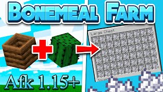 Minecraft *BEST* Automatic BONE MEAL FARM AFK AND EASY- 1.15+, 1.14