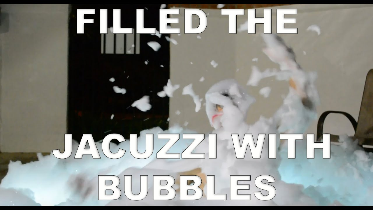 Giant Jacuzzi Bubble Bath - YouTube