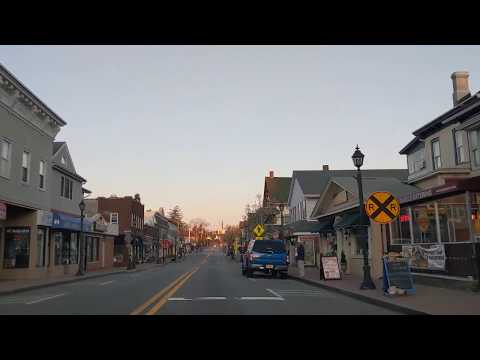Drive Through Main Street In Ramsey, New Jersey