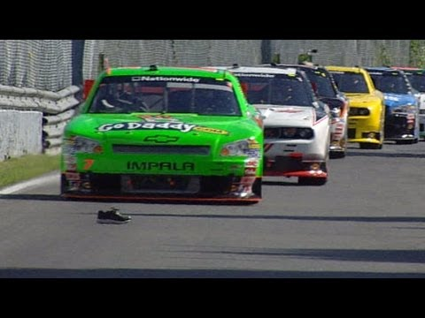 Flying sneaker, problems for Danica