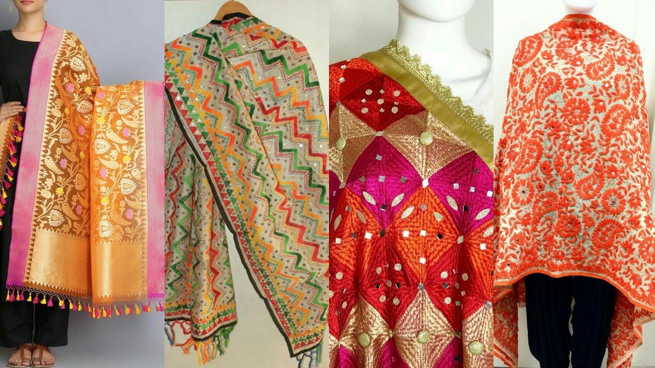 Top Class Phulkari Hand Made Dupatta Designs For Girl's & Women's