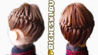 видео Как плести корзинку из волос?
