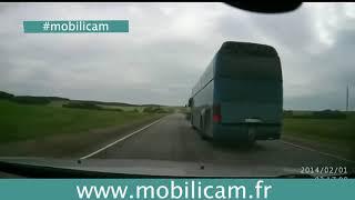 Accident de la route Poids Lourds accrochage délit de fuite Mobilicam Caméra embarquée