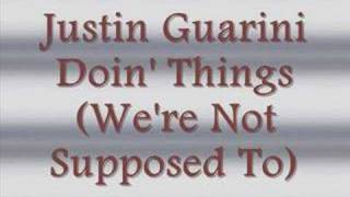 Watch Justin Guarini Doin Things Were Not Supposed To video