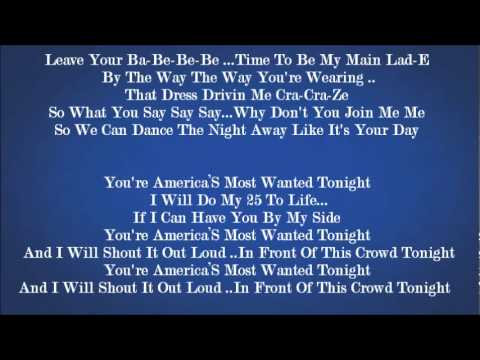 Akon - America's Most Wanted (Lyrics On Screen)