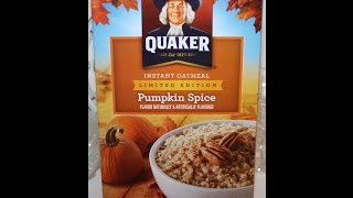 Quaker Instant Oatmeal: Pumpkin Spice Review