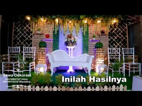 Setting Dekorasi Panggung Pernikahan Minimalis Sederhana