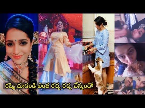 Anchor Rashmi Behind Scene Fun Moments At Extra Jabardasth Shooting Spot & Rashmi Unseen Moments