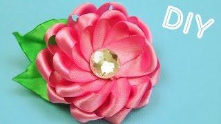 Брошь-Цветок из лент / Ribbon Flower Brooch / ✿ NataliDoma DIY