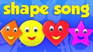 hình dạng bài hát | tìm hiểu hình dạng hình học | Shape Song | Kids Tv Channel Vietnam